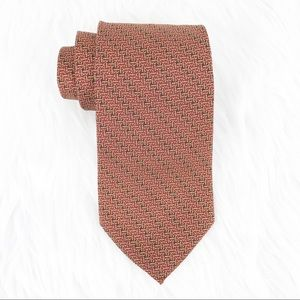 2/$10 Brooks Brothers Orange Red Silk Tie